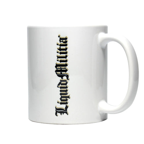 Hangover Coffee Mug in Gold Black White