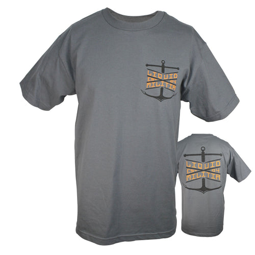 Float Mens Standard Tee in Charcoal - Front/Back