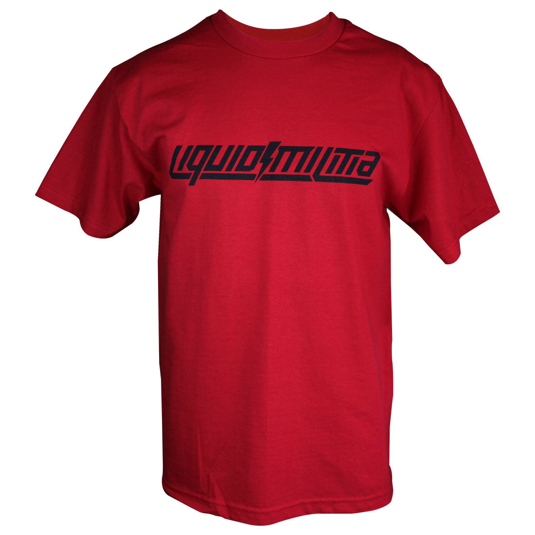 Foundation Mens Standard Tee in Red - Front View