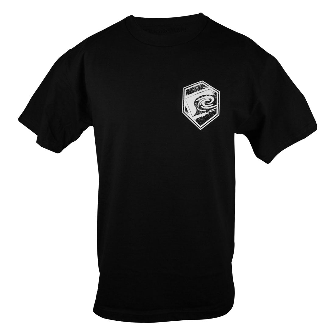 League Mens Standard Tee in Black - Front
