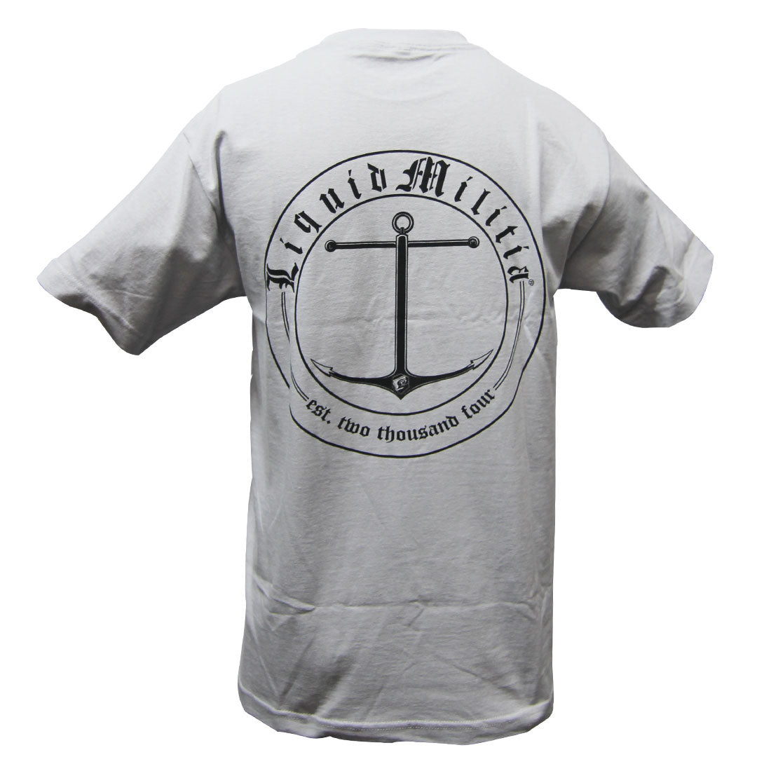 Charter Mens Standard Tee in Silver Back