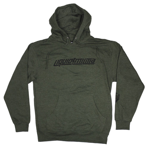 Steady Mens Pullover Hoodie in Army Heather