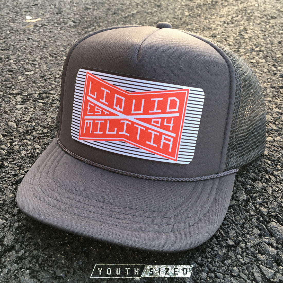 Bind Youth Hat in Charcoal Gray