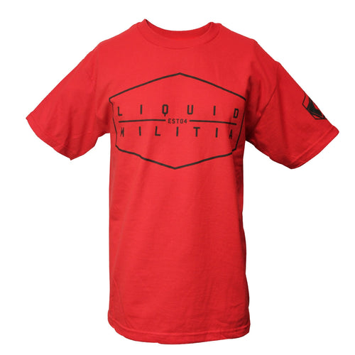 Proof mens standard tee in Red front view