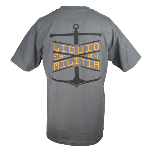 Float Mens Standard Tee in Charcoal - Back