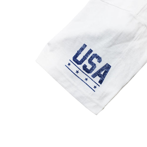 United mens standard tee in White - Left Sleeve View