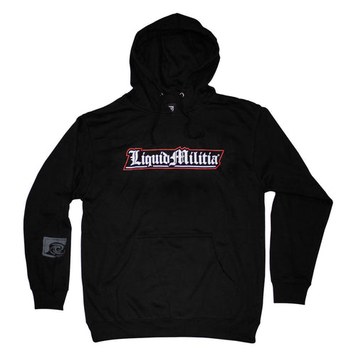 Action Mens Pullover Hoodie in Black - Front