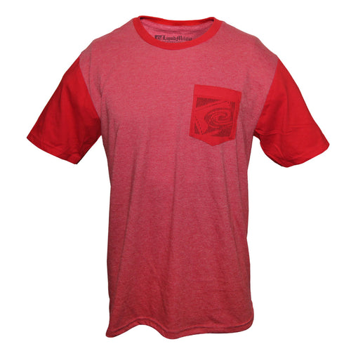 Splash Mens Pocket Tee in Heathered Red/Classic Red