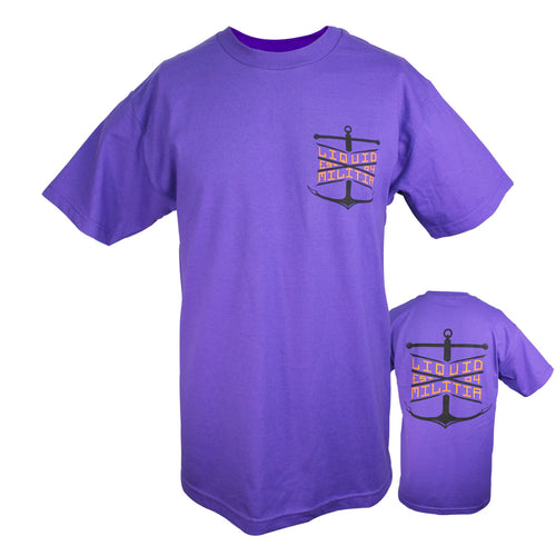 Float Mens Standard Tee in Purple - Front/Back