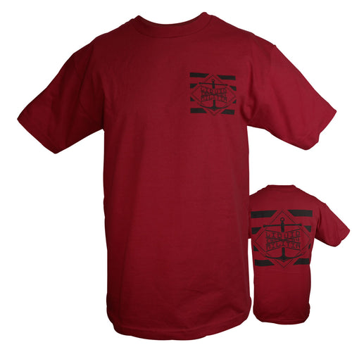 Pylon Mens Standard Tee in Cardinal - Front/Back