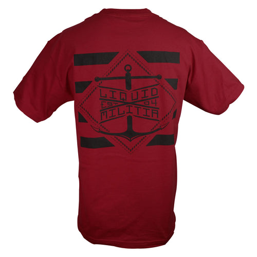 Pylon Mens Standard Tee in Cardinal - Back