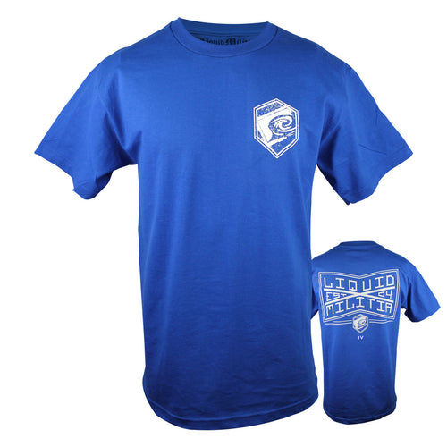 League Mens Standard Tee in Royal Blue - Front/Back