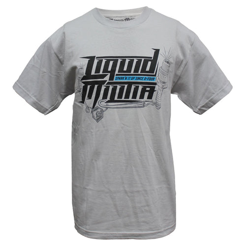 Sparkn Mens Standard Tee in Silver