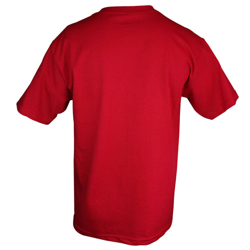 Foundation Mens Standard Tee in Red - Back View