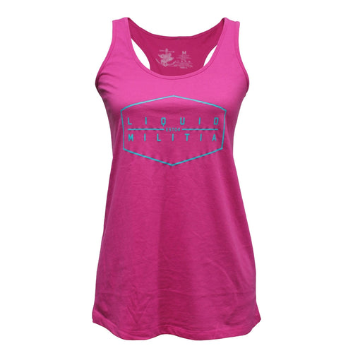 Hex Girls Racerback Tank in Pink - Front View