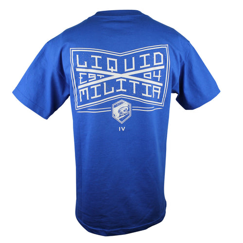 League Mens Standard Tee in Royal Blue - Back