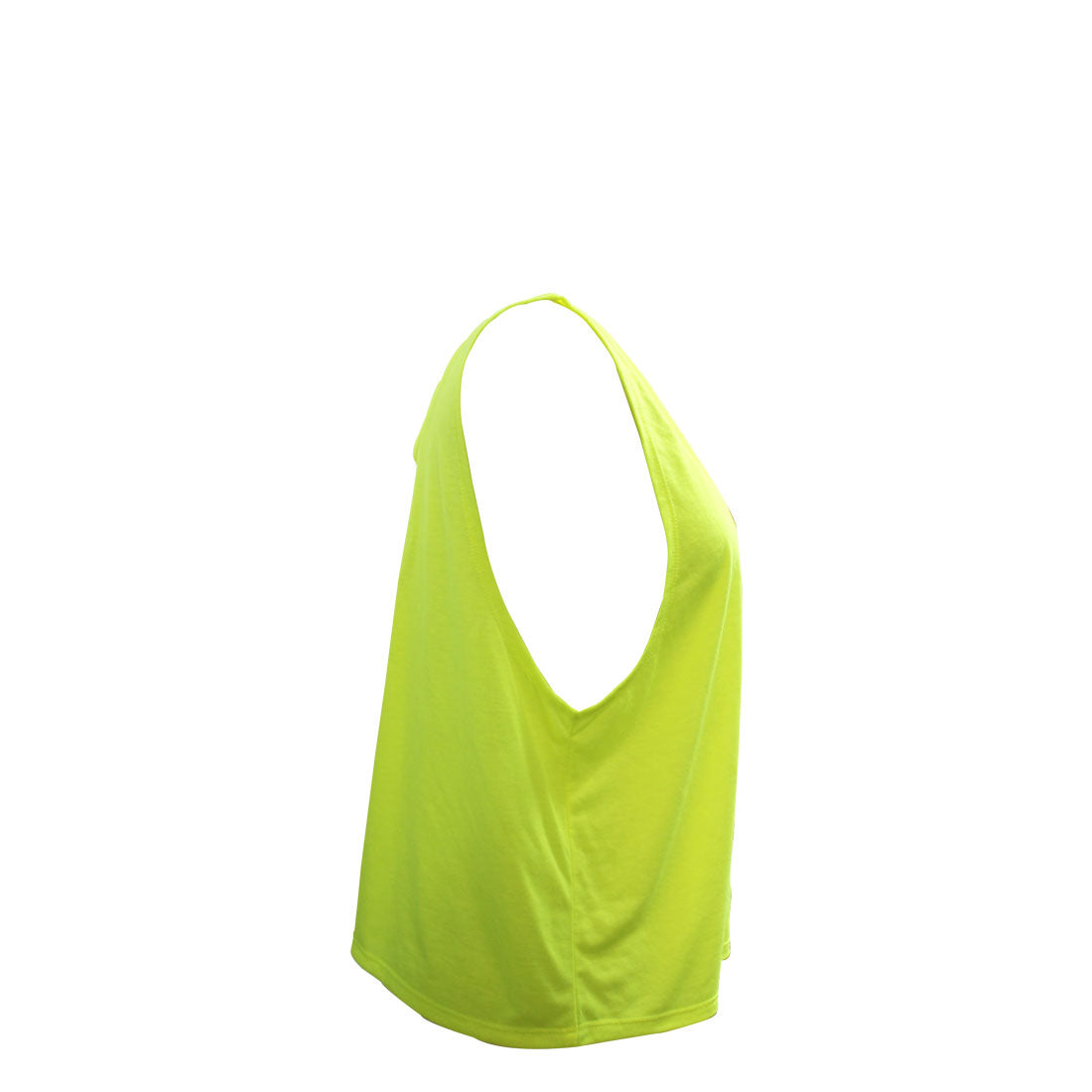 Drape Girls Flowing Tank In Neon Yellow - Side
