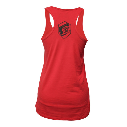 Value Girls Racerback Tank in Red Back View