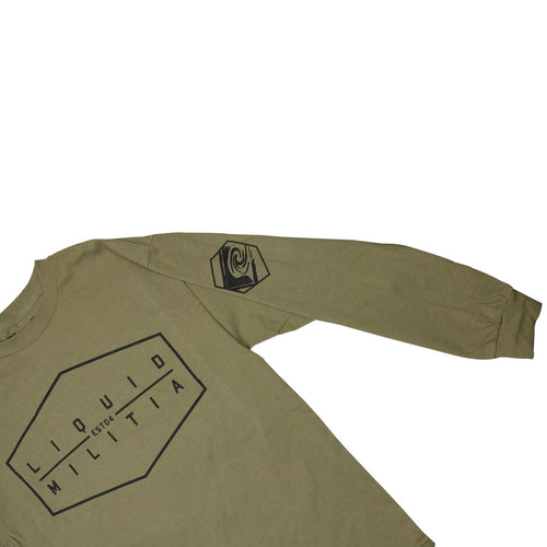 Reveal Mens Long Sleeve in Safari Green