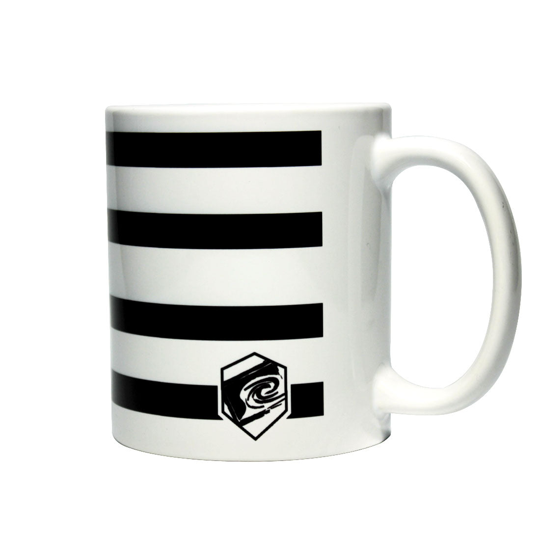 Liquid Militia Anchor coffee mug black and white stripes