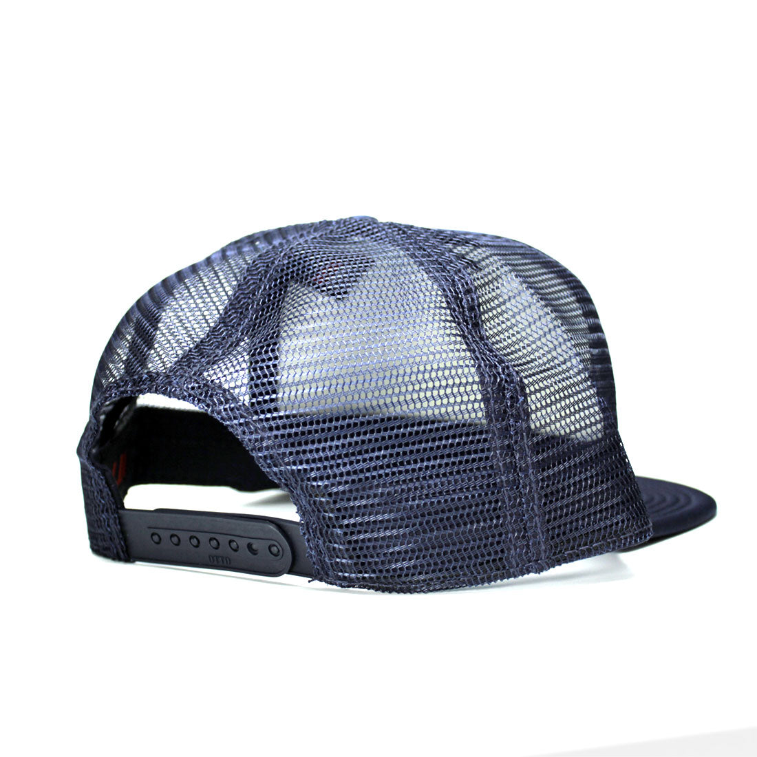 Pub Flat Bill Trucker Hat in Navy