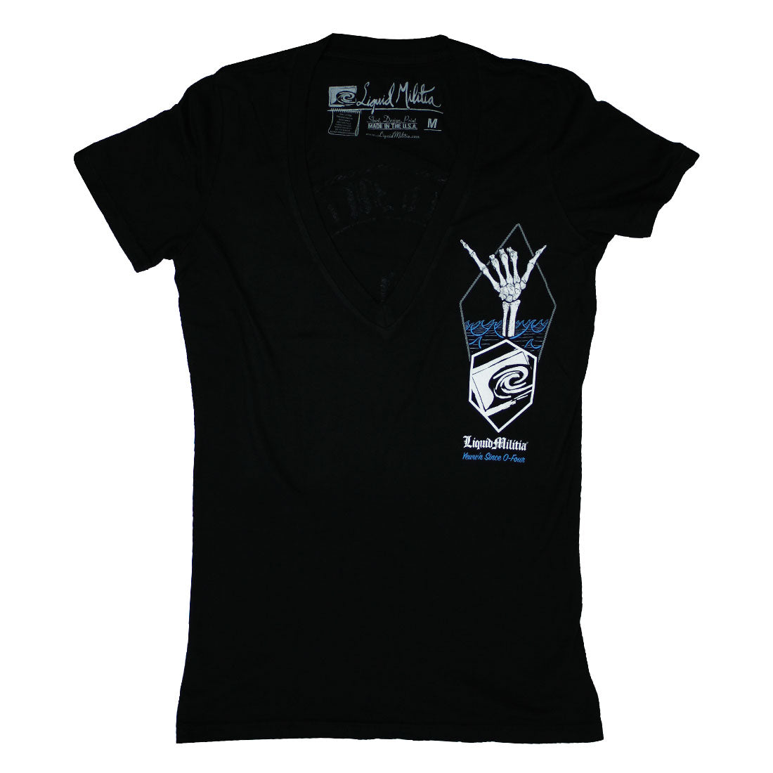 Shaka Girls Deep V-neck in Black