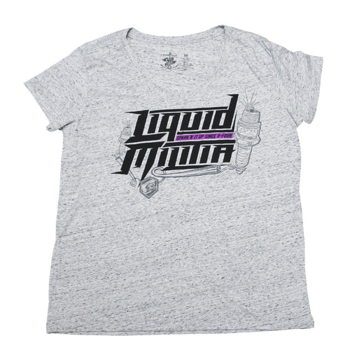 Flash Womens Relaxed V-Neck Tee in White Black Cosmic