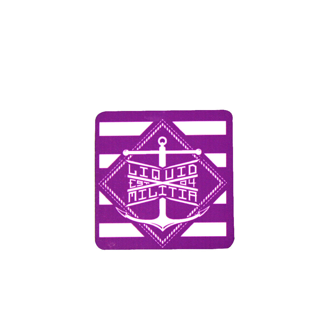 Liquid Militia Purple and White anchor magnet