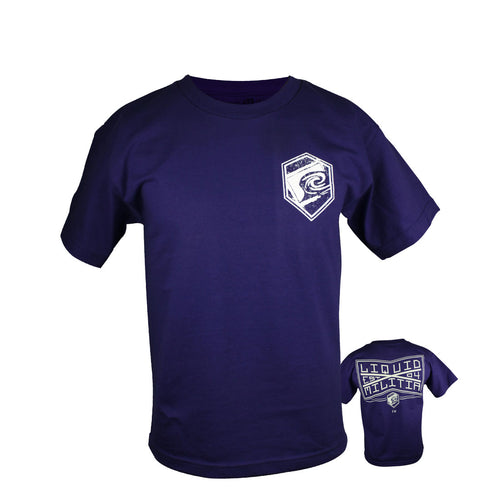 Ivy Youth Boys Tee in Purple - Front/Back