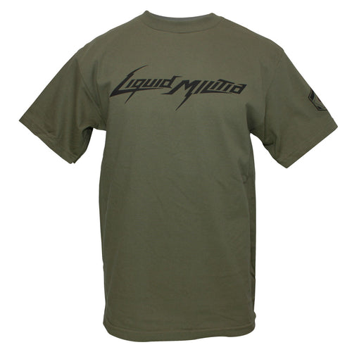 Jet Mens Standard Tee in Miltary Green - Front