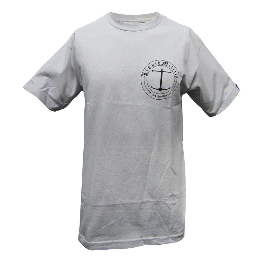 Charter Mens Standard Tee in Silver Front