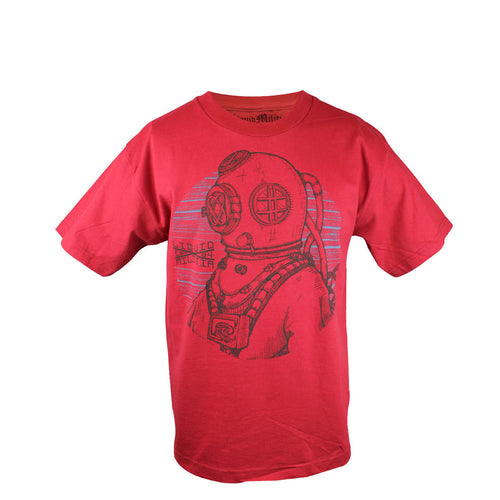 Deck Youth Boys Tee in Cardinal