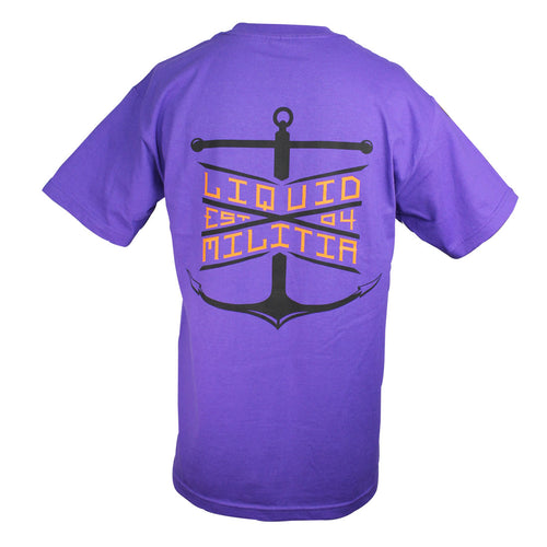 Float Mens Standard Tee in Purple - Back