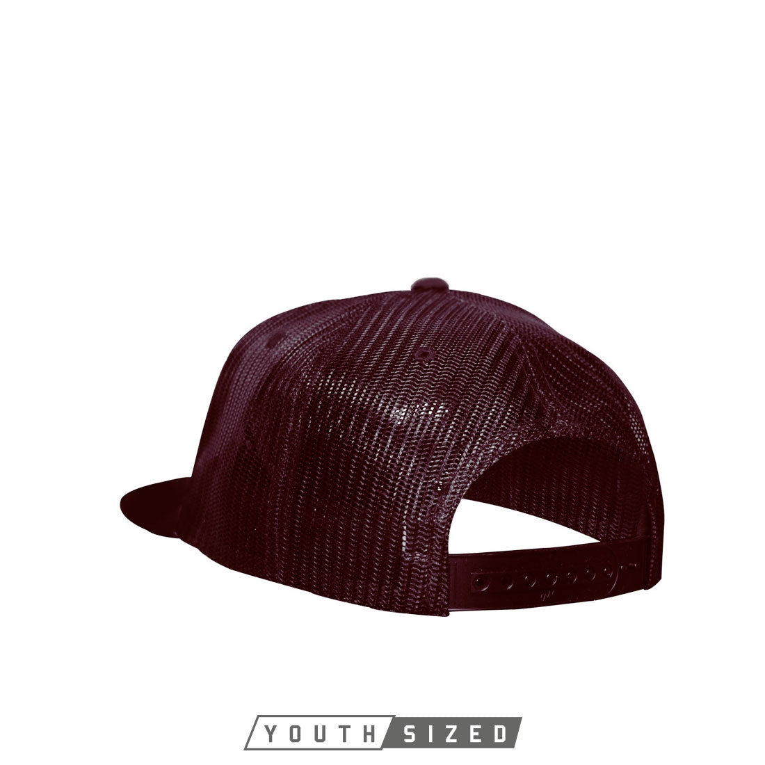 Bind Youth Curved Bill Trucker in Maroon - Back Snap View