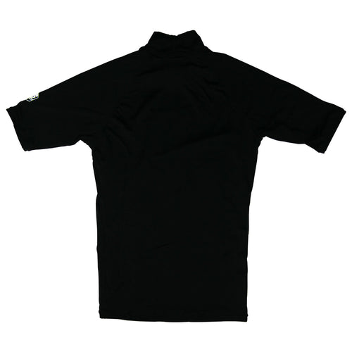 Impact Mens Short Sleeve Rashguard in Black - Back