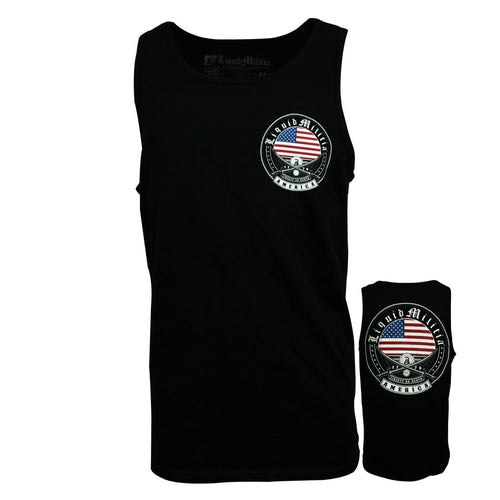 Exempt Mens Tank in Black - Front/Back
