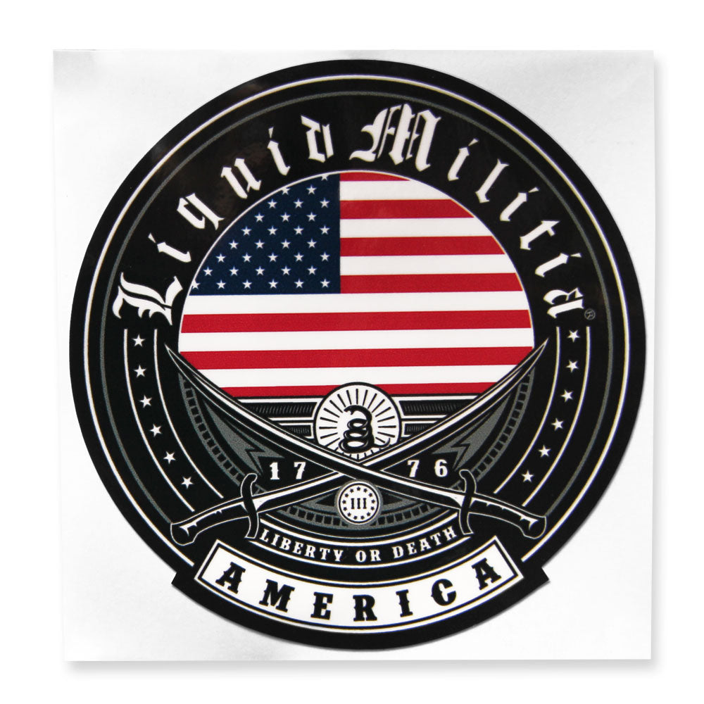 "Independence 4 1/2"" Round Sticker"