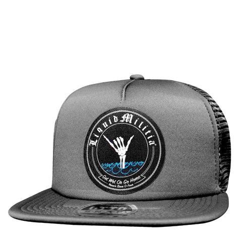 Energy Youth Curved Bill Trucker Hat in Black White Black