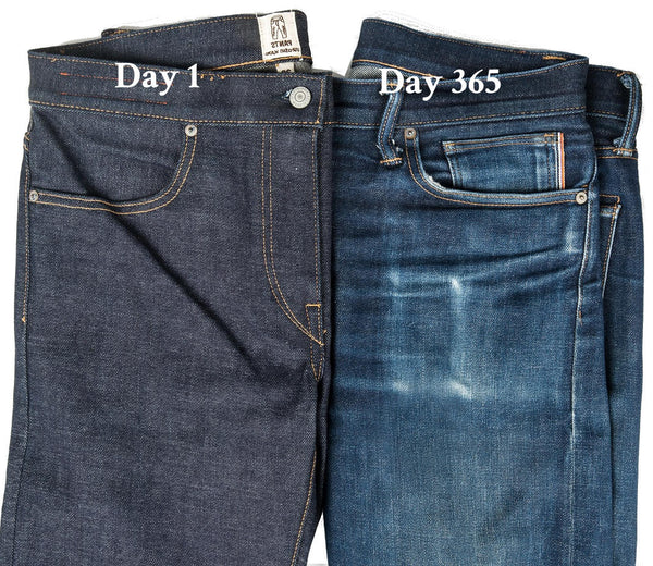 how kato denim wears over time