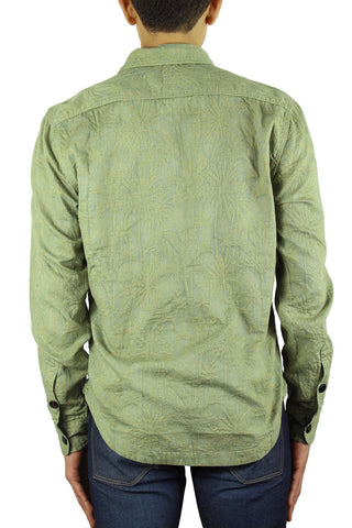 """THE ANVIL"" - GREEN SHIRT JACKET ALOHA JACQUARD"