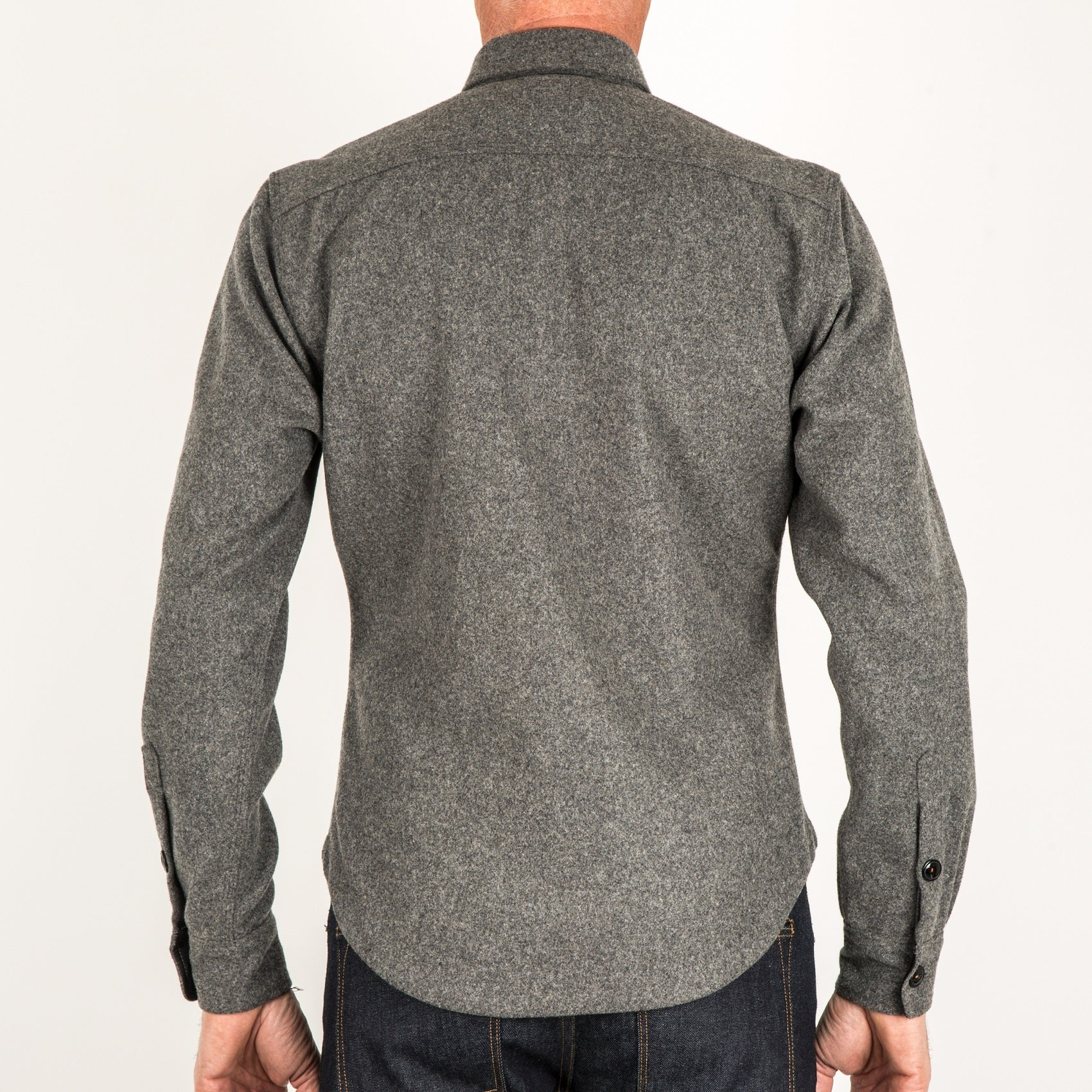 The Anvil Shirt Jacket - Charcoal Gray - Heavy Melton