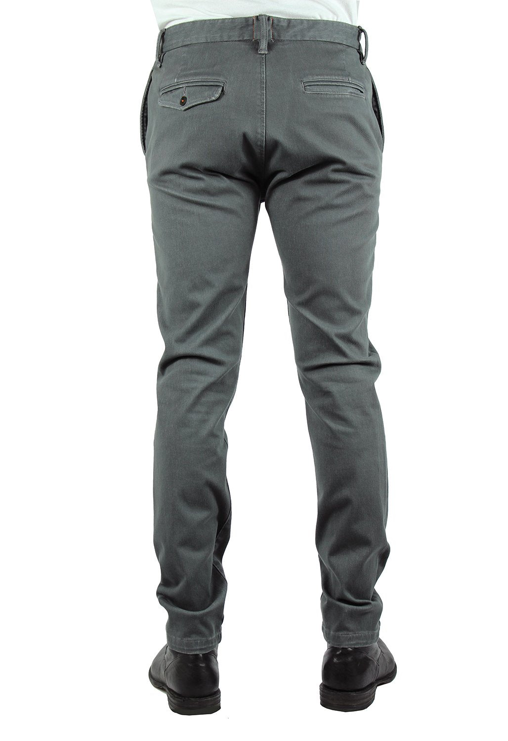 """THE AXE"" - CHARCOAL FRENCH TERRY SLIM CHINO"