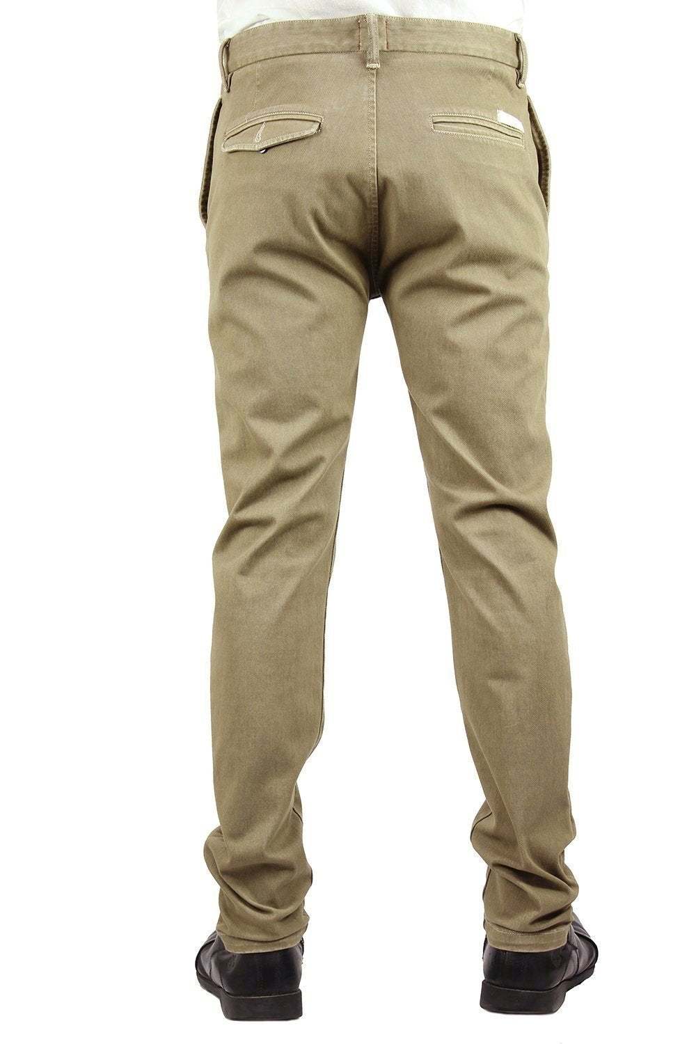 """The Axe"" - Old Khaki Slim Chino 12oz 4Way Stretch French Terry"