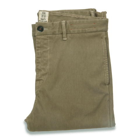 """THE AXE"" - OLD KHAKI SLIM CHINO 4WAY FRENCH TERRY"