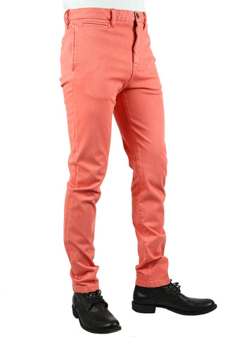 """THE AXE"" - LT RED SLIM CHINO 4WAY FRENCH TERRY"