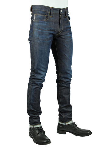 """THE NEEDLE"" SKINNY - OZONE 10OZ 4-WAY STRETCH SELVEDGE JEANS"