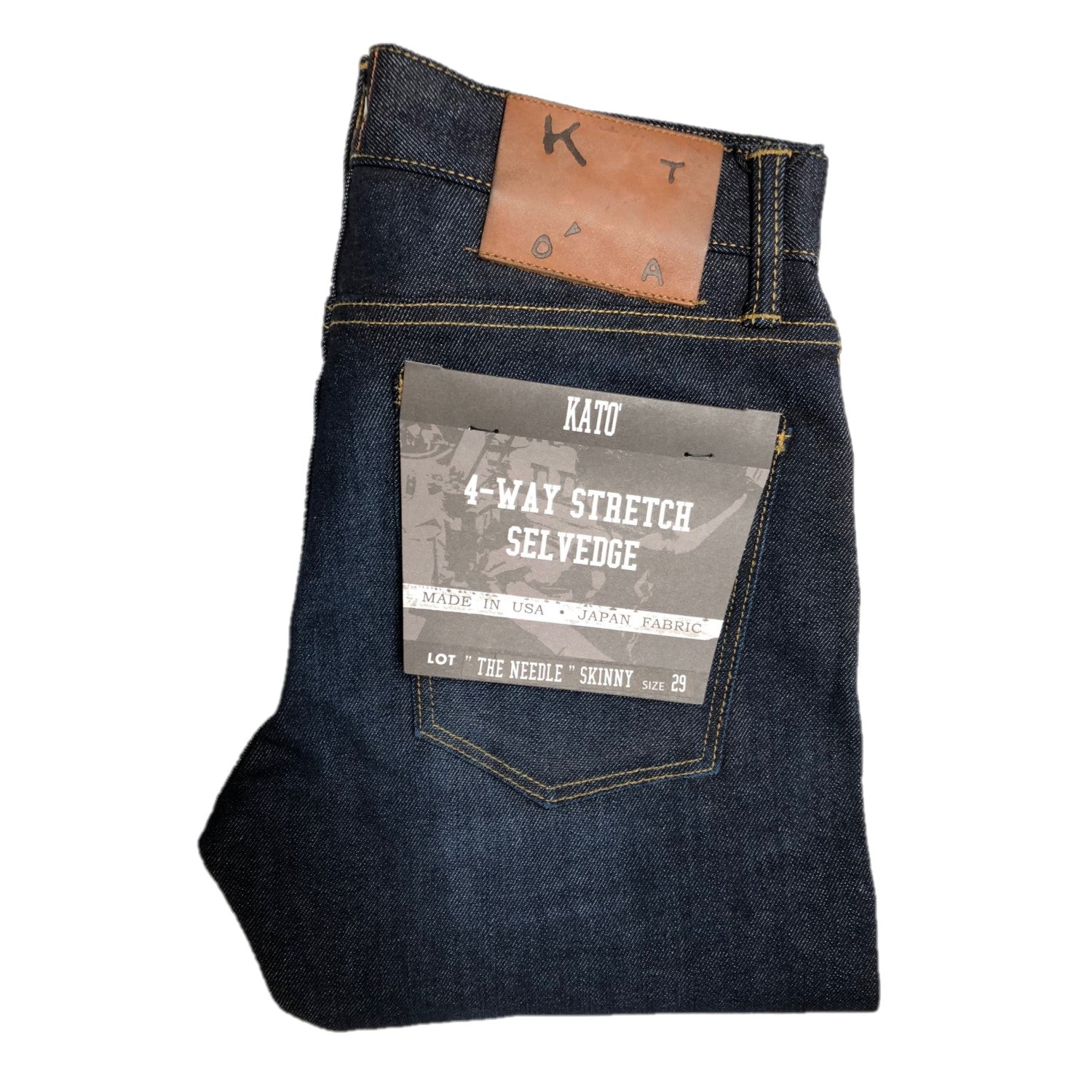 """THE NEEDLE"" SKINNY -LASER 10.5OZ 4-WAY STRETCH SELVEDGE JEANS"