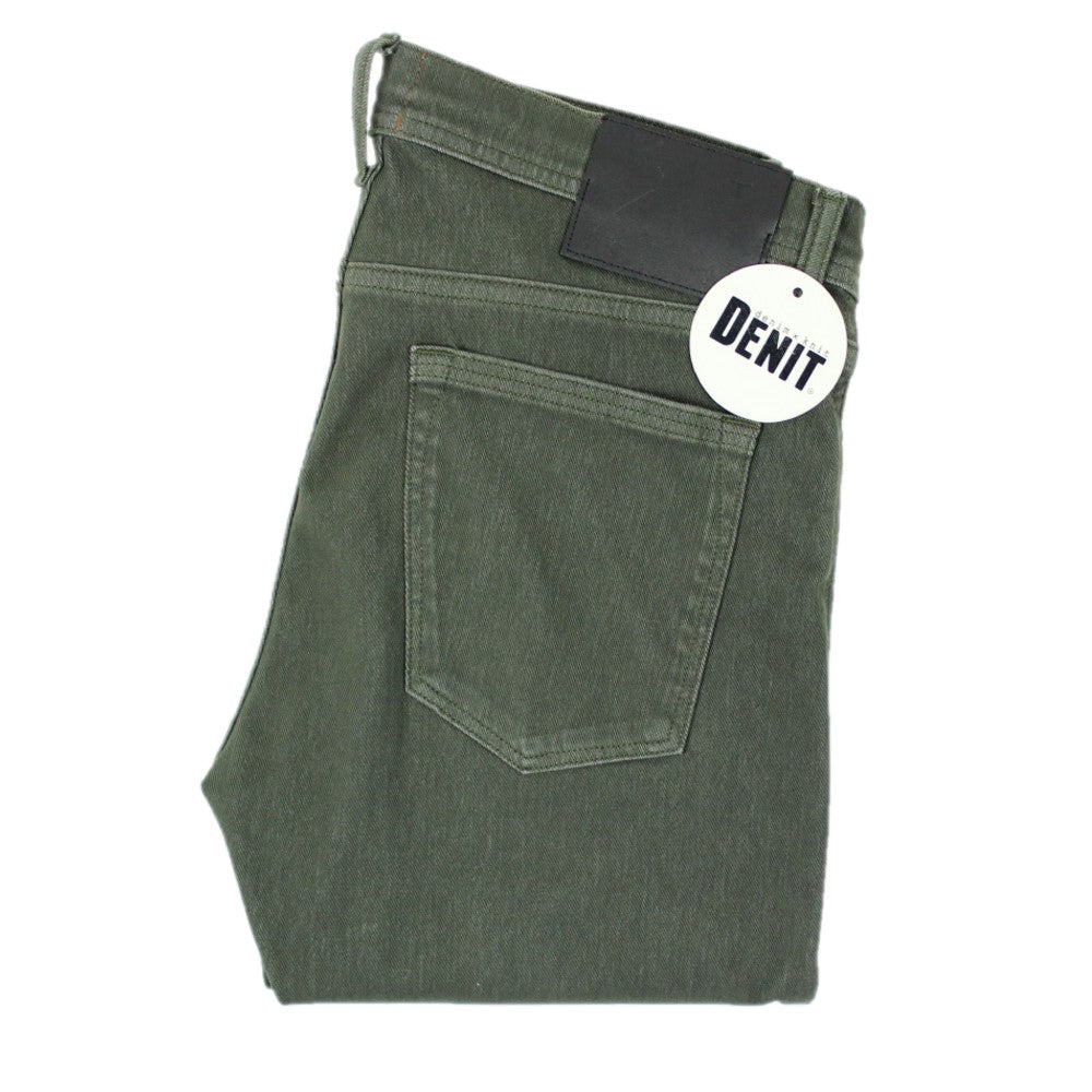 """The Needle"" Skinny Denit - Military Green 4Way French Terry"