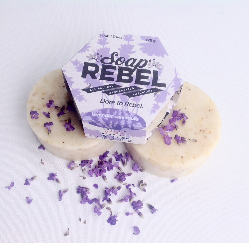 SoapRebel   Lavender Calendula    Luxurious 125g Soap  OUT OF STOCK temporarily. So Sorry