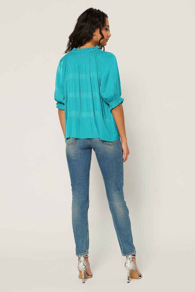 Angelica Pleated Blouse